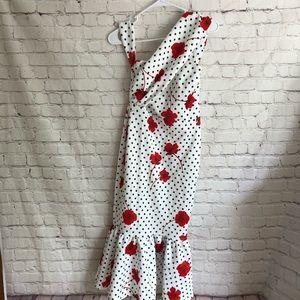 ASOS Polka dot Red Floral Tube Dress